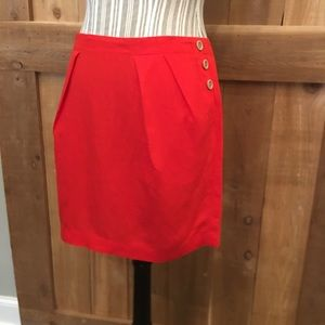 Banana Republic Linen Mini Skirt Burnt Orange SZ 8